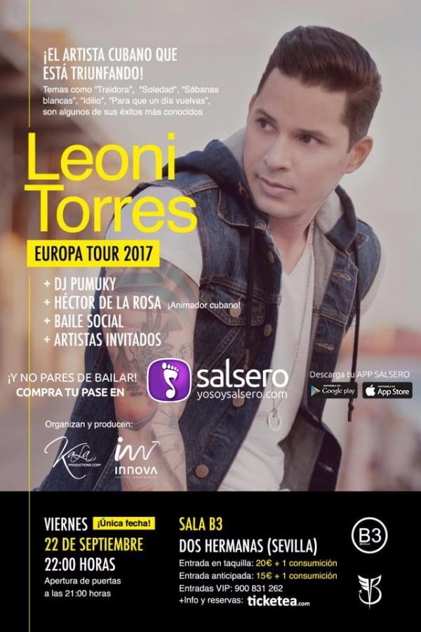 Concierto de Leoni Torres y Fiesta Social en B3 SEVILLA