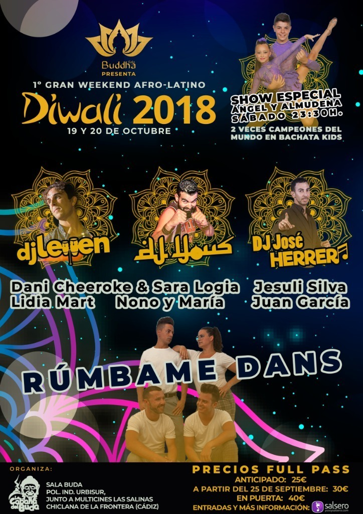 DIWALI 2018 - GRAN WEEKEND AFRO-LATINO