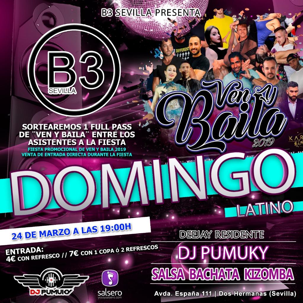 DOMINGOS LATINOS B3 SEVILLA - Especial Ven y Baila